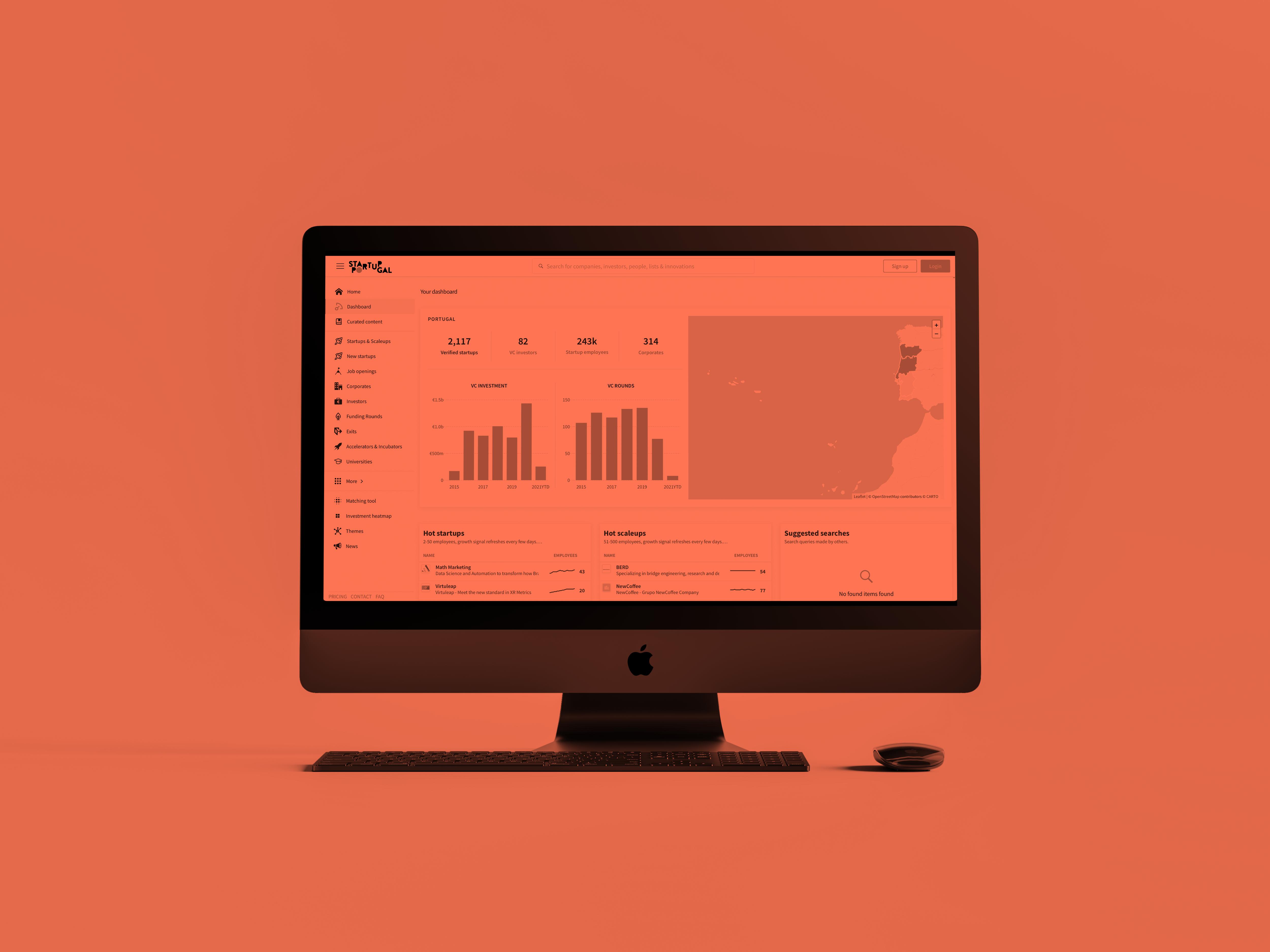 Find portuguese startups, incubators/accelerators, investors and scaleups through our Dealroom dashboard